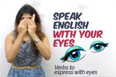 How to speak English with your EYES? Learn English Verbs to express with eyes