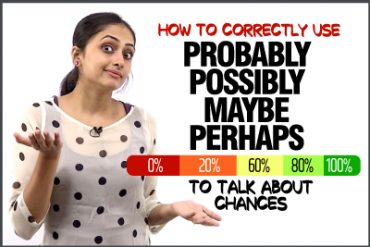 How to use PROBABLY, POSSIBLY, MAYBE, PERHAPS To Talk About Chances In English? Confusing English Words