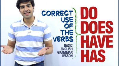 Correct Use of Auxiliary Verbs Do, Does, Have, Has in Sentences – Basic English Grammar Lesson