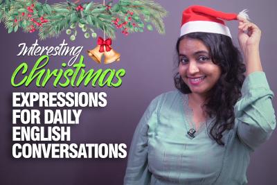 ESL Christmas English Lesson - Interesting Vocabulary & Expressions - English Speaking Conversation Practice