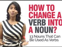 How To Convert A Verb Into A Noun? English Grammar Lesson & Concepts