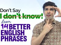 🔴 Don't Say – I DON'T KNOW 🤷‍♂️ Learn 14 Smart English Phrases & Expressions