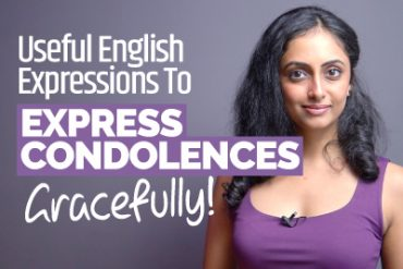 Useful Phrases For Expressing Condolences In English | Expressions To Show Sympathy | English Lesson