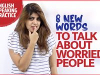8 New English Words To Talk About Worried People | English Conversation Lesson