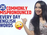 Standard English Pronunciation Of 25 Commonly Mispronounced Words In Everyday Conversation