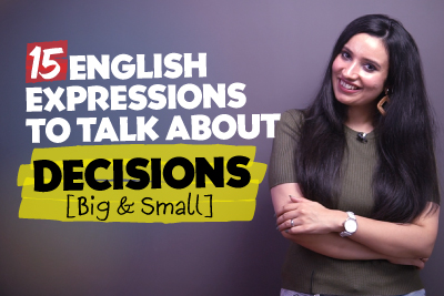 Useful English Expressions, Idioms & Phrases For Making Decisions🤔 | English conversation Practice