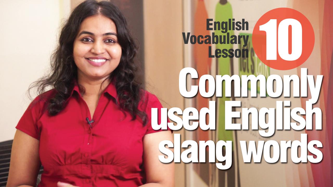 English Lesson - Slang words