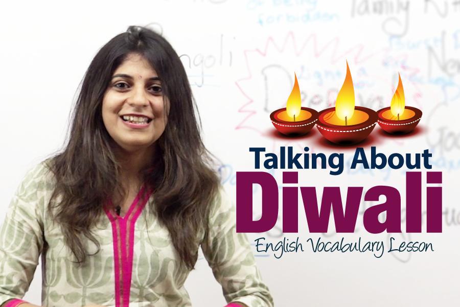 Free English lesson on Diwali