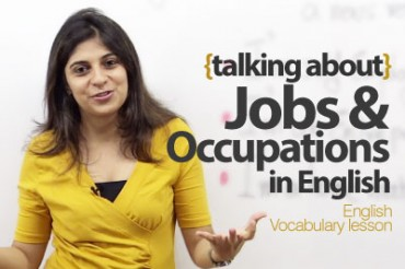 Talking about Jobs and Occupations in English