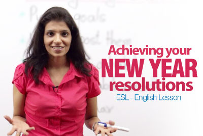 English lesson New Year