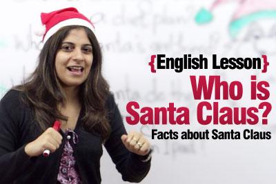 English Lesson Santa Claus