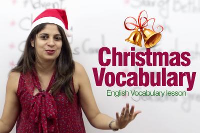 English lesson Christmas vocabulary