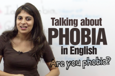 Talking about types of phobia.