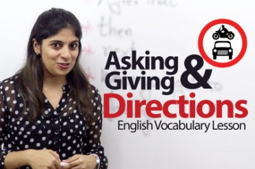 How to ask & give directions in English?