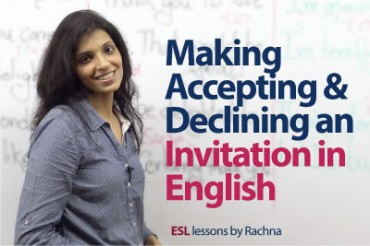 Making, Accepting & Declining an invitation in English.