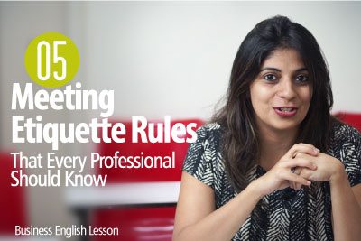 05 Etiquette Rules For Business Meetings That Every Professional Should Know - Business English Lesson