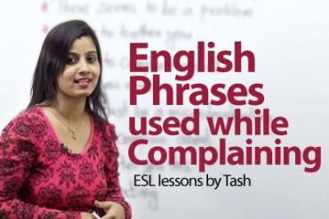 English Phrases used while complaining