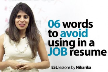 06 Words to avoid in a job resume.