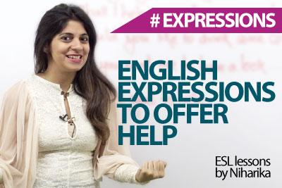 English expressions to offer help – Free spoken English lessons.