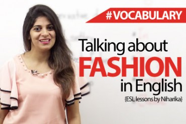 How to talk about fashion in English?