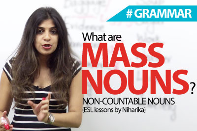 What are Mass Nouns - English Grammar lesson