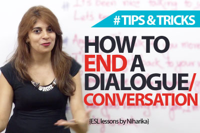 How to end end a conversation? Spoken English Lesson