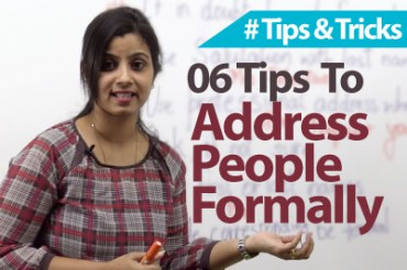 06 tips – Addressing People Formally