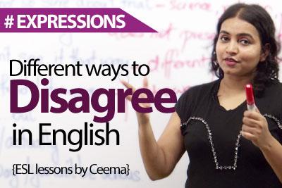 Ways to Disagree in English – Spoken English Lesson