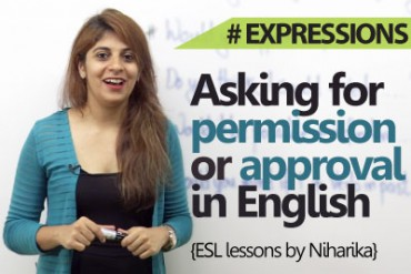 Asking for permission or approval in English.
