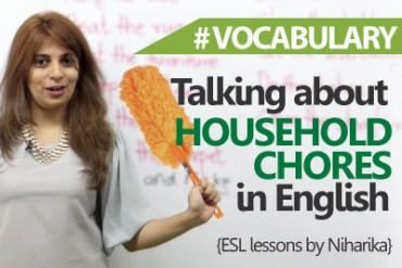 Talking about household chores in English