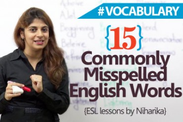 15 common misspelled words in English.