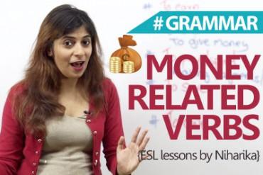 Verbs related to 'Money' ( Grammar)