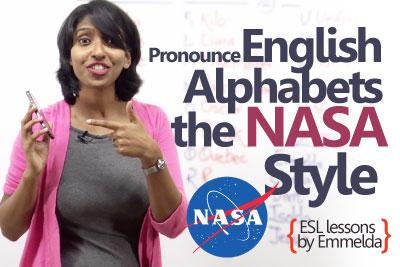 English Lesson - Pronunciation of English alphabets the NASA style