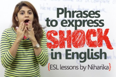 English phrases to express shock – Learn English