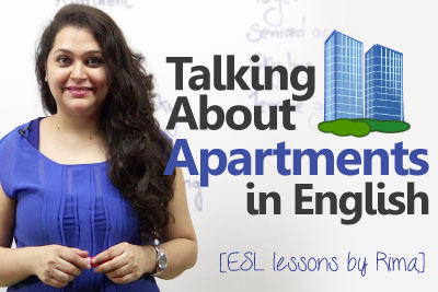 Free English lessons to learn English vocabulary to improve your English and speak fluent English about apartments