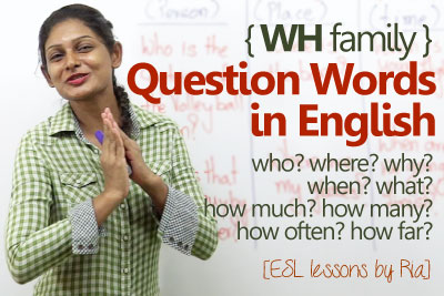 English grammar lesson to learn WH question words and Improve your English speaking