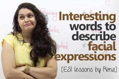 English Vocabulary lesson to talk about facial expressions