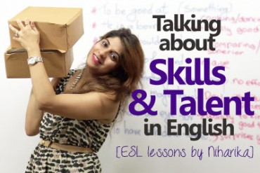 Talking about skills and Talent in English