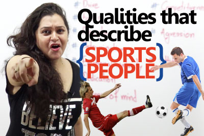 English speaking lesson to learn qualities that describe sports people