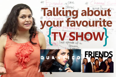 Learn English vocabulary English conversation lesson to talk about TV show