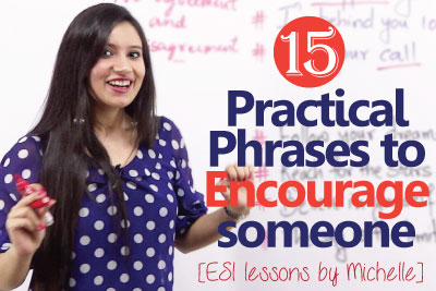 Free English lessons online to learn English phrases to encourage someone
