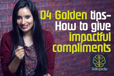 Skillopedia video to learn tips on receiving and giving compliments. Improve soft skills and interpersonal skills