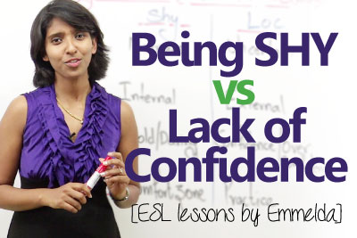 personality development video to learn the difference between being shy and lack of confidence