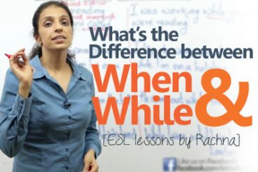 The difference between 'when' and 'while'