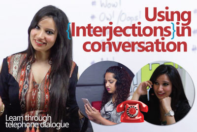 Free English grammar lesson to learn interjections to express emotions