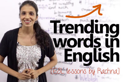 free English lessons to learn trending words in English vocabulary