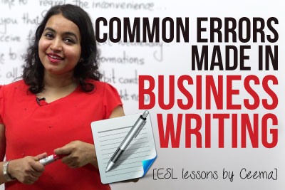 Business English lesson to learn Common errors in business writing, business emails and business letters
