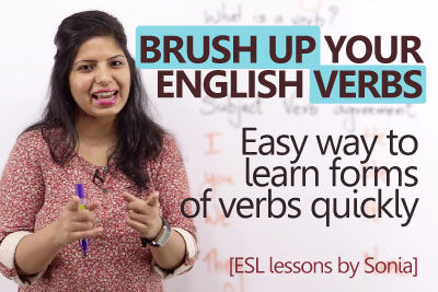 English grammar lesson to learn different forms of verbs in English.