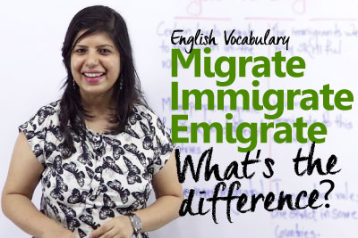 Learn the difference between the words Migrate, Emigrate and Immigrate ESL lesson