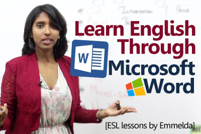 In this spoken English lesson by Emmelda, you would learn simple English words which are a part of the Microsoft word application and what they really mean in Real English conversation.